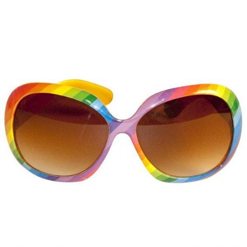 Party Glasses Rainbow Colours
